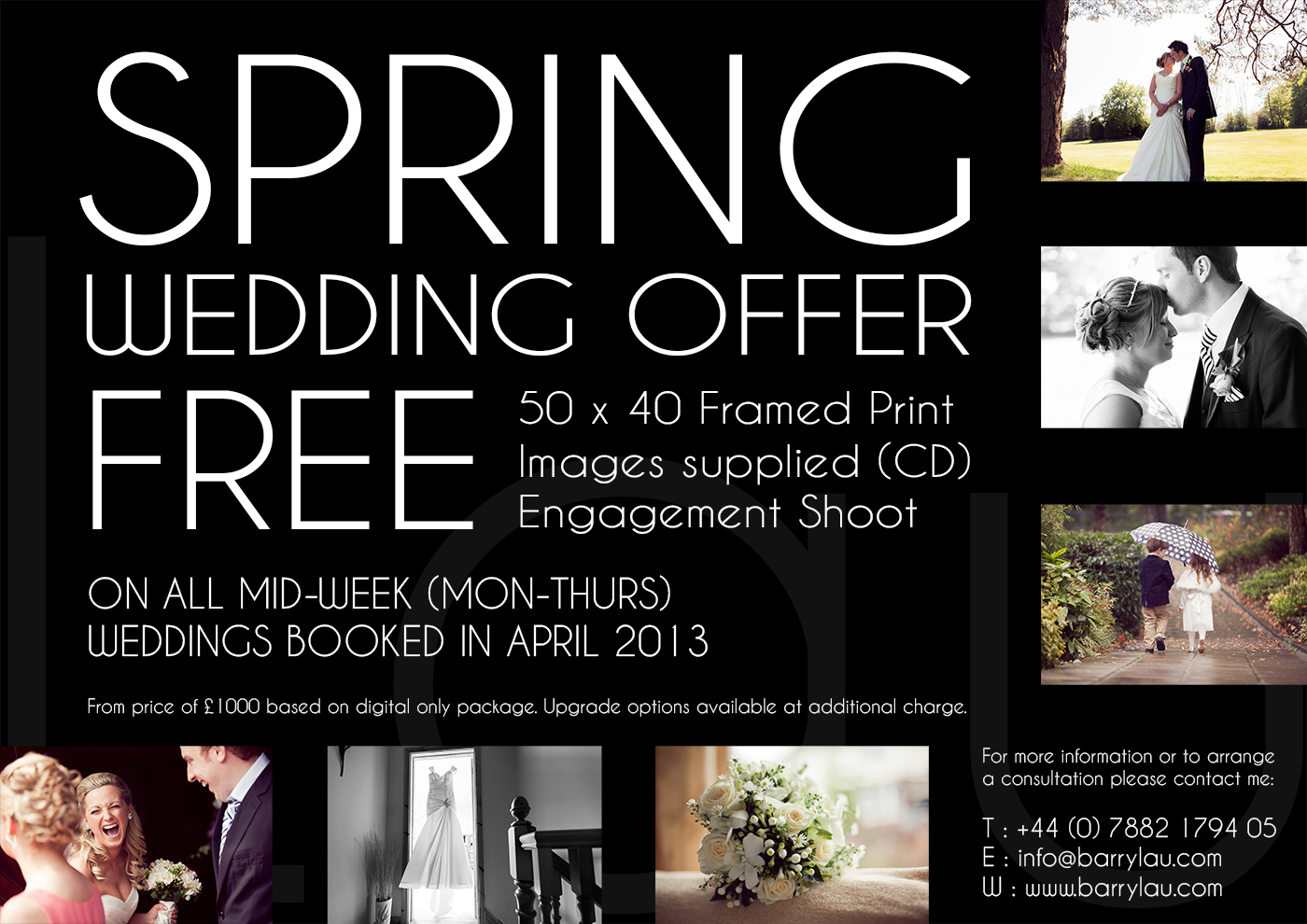 Barry Lau :: Photography - Spring Wedding Offer